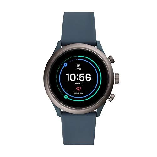 Fossil Herren-Smartwatch mit Silikon Armband