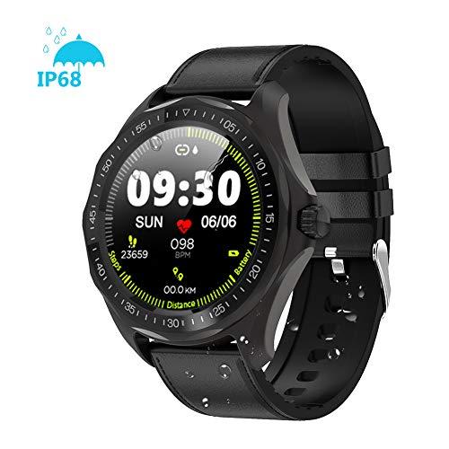 Smartwatch, 1.3 Zoll Full Round HD Farb Touchscreen Bluetooth Fitness Tracker mit Herzfrequenz Schlaf Tracking, 5ATM…