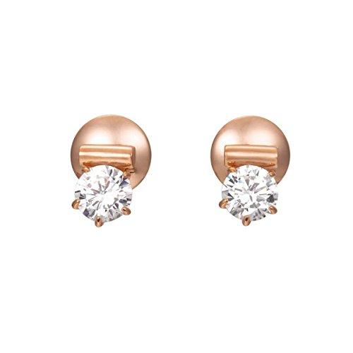JOOP! Damen-Ohrstecker 925 Silber teilvergoldet Zirkonia transparent-JPER90312C000