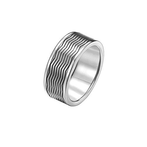 JOOP! Men Jewelry Herren-Ring JP-M ZigZag RG10656 SS Edelstahl rhodiniert JPRG10656A2