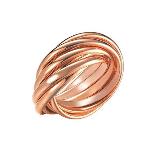 Joop! Damen-Ring 925 Silber teilvergoldet - JPRG90682C5