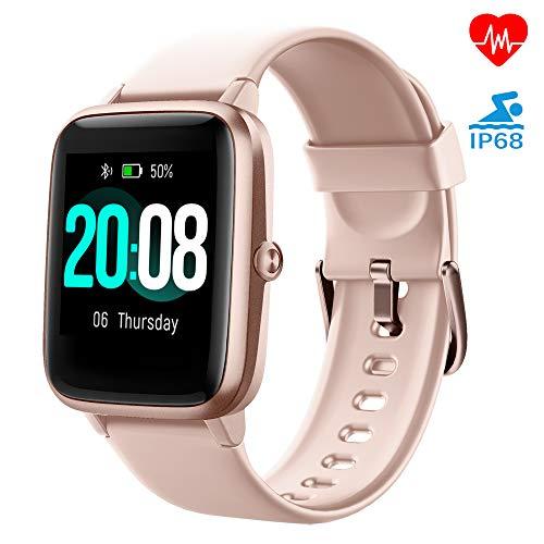 LIFEBEE Smartwatch, Fitness Armband Fitness Tracker Voller Touch Screen Smart Watch IP68 Wasserdicht Fitness Uhr mit…