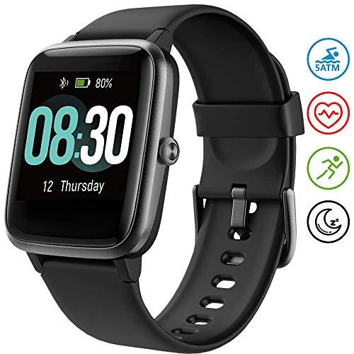 Smartwatch UMIDIGI Uwatch3 Bluetooth Smart Watch Fitness Tracker Smart Sport Uhr mit Kamera Schrittzähler Schlaftracker Romte Capture Kompatibel mit Android Smartphone
