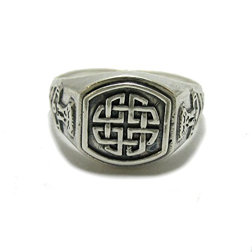 Sterling Silber Celtic Herrenring massiv 925 Knoten R001788