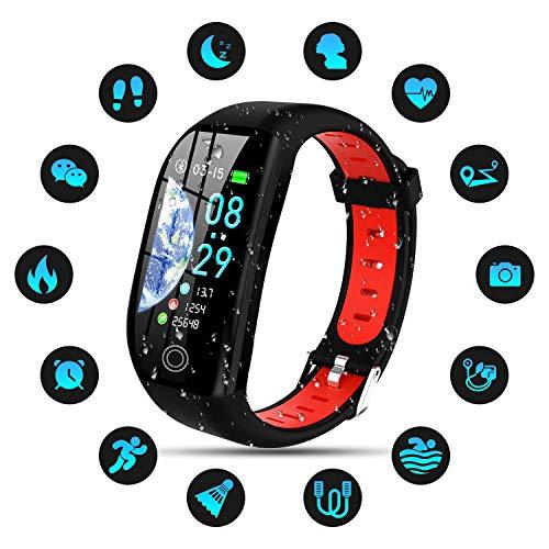 Tipmant Fitness Armband mit Pulsmesser Blutdruckmessung Smartwatch Fitness Tracker Wasserdicht IP68 Fitness Uhr Schrittzähler Pulsuhr Sportuhr für Damen Herren Kinder ios iPhone Android Handy