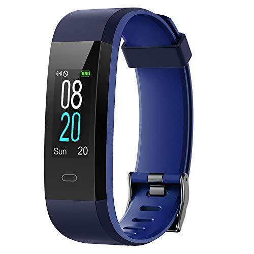YAMAY Fitness Tracker,Smartwatch Wasserdicht IP68 Fitness Armband mit Pulsmesser 0,96 Zoll Farbbildschirm…