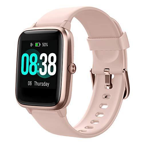 YONMIG Smartwatch, Fitness Armband Tracker Voller Touch Screen Uhr Wasserdicht IP68 Armbanduhr Smart Watch mit…