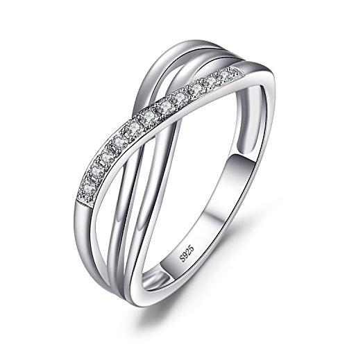 JewelryPalace Infinity Wickelring Verlobungsring Unendlichkeit Promise Eheringe Ring Silber 925 Damen, Zirkonia…