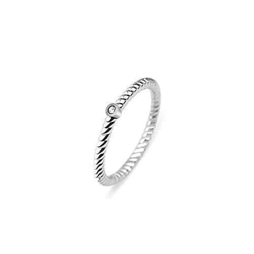 PAUL HEWITT Damenring North Star - Damen Edelstahl Ring mit Swarovski-Stein, Fingerring für Frauen Rosegold Silber Gold