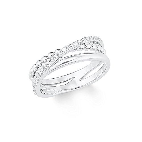 s.Oliver Ring für Damen, Sterling Silber 925, Zirkonia